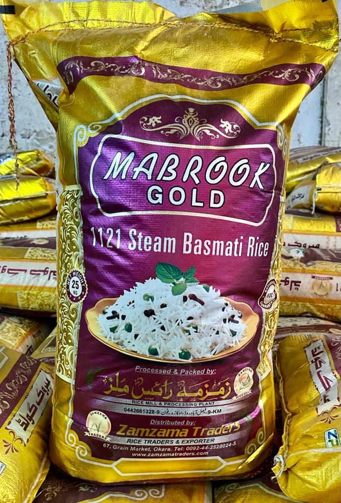 Steam Basmati – Mabrook Gold – 25 KG