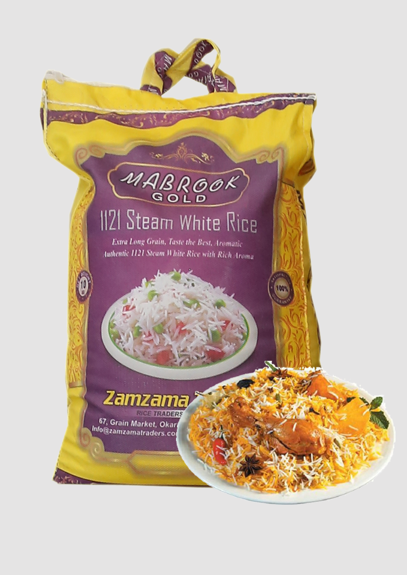 Steam Basmati – Mabrook Gold – 10 KG